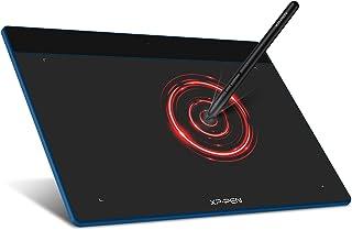 XP-Pen ペンタブレット Lサイズ ペンタブ Chromebook 対応 板タブ 充電不要ペン イラスト 入門用 OSU!ゲーム用 Windows Mac Androidに対応 Deco Fun L スペースブルー