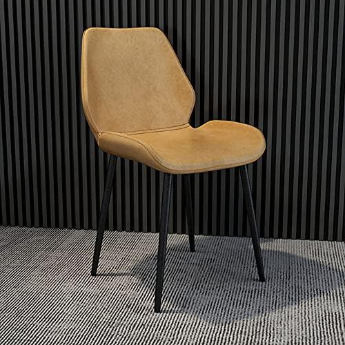 PZJ-Esszimmerstühle Küchenstühle Lounge Freizeit Wohnzimmer Eckstühle Kunstleder Empfangsstühle mit Rückenlehne und gepolstertem Sitz,E