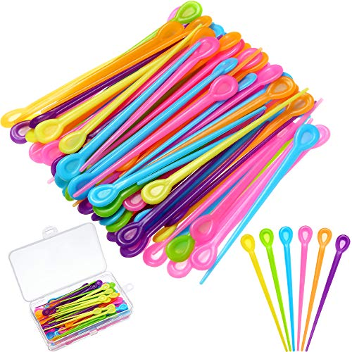 180 Pieces Brush Roller Pick Plastic Roller Pick Hair Curler Roller Pin for Hair Curling Styling Accessories for Christmas Valentine's Day Present (Rose Red, Green, Yellow, Blue, Orange and Purple)
