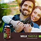 Organic Milk Thistle Capsules, 1500mg 4X Concentrated Extract with Silymarin is The Strongest Milk Thistle Supplement Available. Great for Liver Cleanse & Detox! 120 Vegetarian Capsules #4