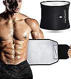 Waist Trainer Waist Trimmer Sweat Belt for Men Women Black