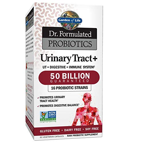 Garden of Life Dr. Formulated Probiotics Urinary Tract+ 50 Billion (Gluten & Dairy Free, 60 Vegetarian Capsules)