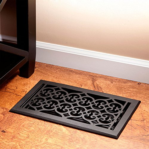Signature Hardware 919326-4X10 Old Victorian Cast Iron Floor Register - 4' x 10'