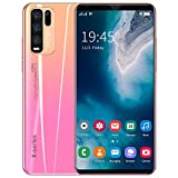 LVHC 4G Mobile Phone, Y50 Pro Smartphone Unlocked, 5.8 inch HD+ Waterdrop Screen Cell Phone, 4GB RAM + 64GB ROM, Dual Sim, Free Android 10.0 Phones, Face Recognition,Pink