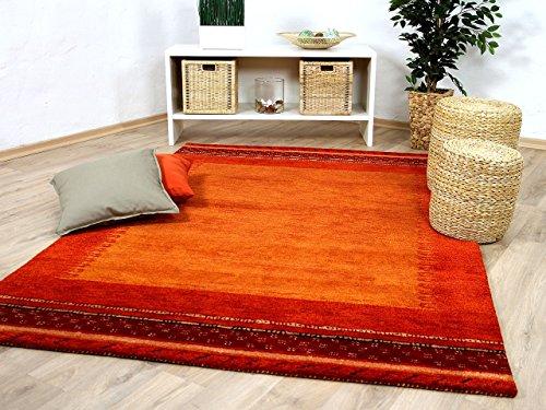 Theko Natur Teppich Indo Gabbeh Esta Rot Classic in 6 Größen