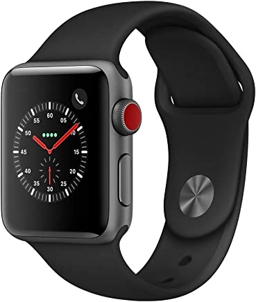 Apple Watch Series 3 (GPS + Cellular, 38mm) - Space Gray Aluminium Case with Black Sport Band