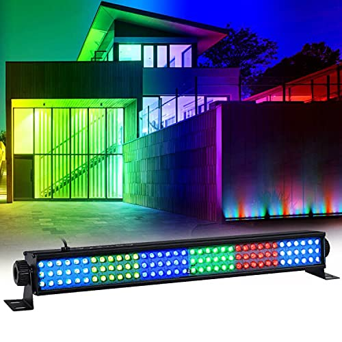 LaluceNatz DJ Wash Lights 20' 25W 108 RGB LED Sound Activated Stage Lightbars DMX Controlled Auto Play Uplighting for Wedding Birthday Gig Dance Music Show Church Theater Halloween Christmas Party