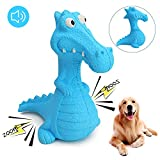 HAOPINSH Dog Squeaky Toys, Durable Rubber Dinosaurs Dog Toys, Doy Chew Toy Indestructible Training Toy Large Dog Gift