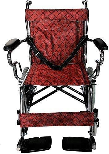 HYY-YY Sillas de ruedas Silla de ruedas infantil de 16 pulgadas, silla de ruedas manual suave, silla de ruedas portátil de viaje, silla de ruedas plegable galvanizada ✅