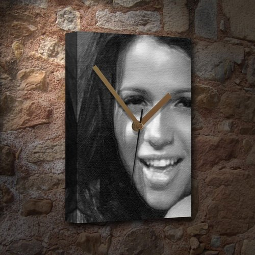 SEASONS VIDA GUERRA - Canvas Clock (A5 - Signed by the Artist) #js002
