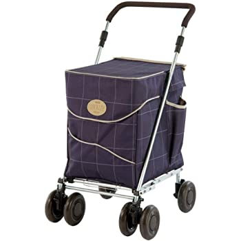 2 Roues Deluxe Shopping Chariot Avec Poche Arrière /& Extra Grande Roues Rouge
