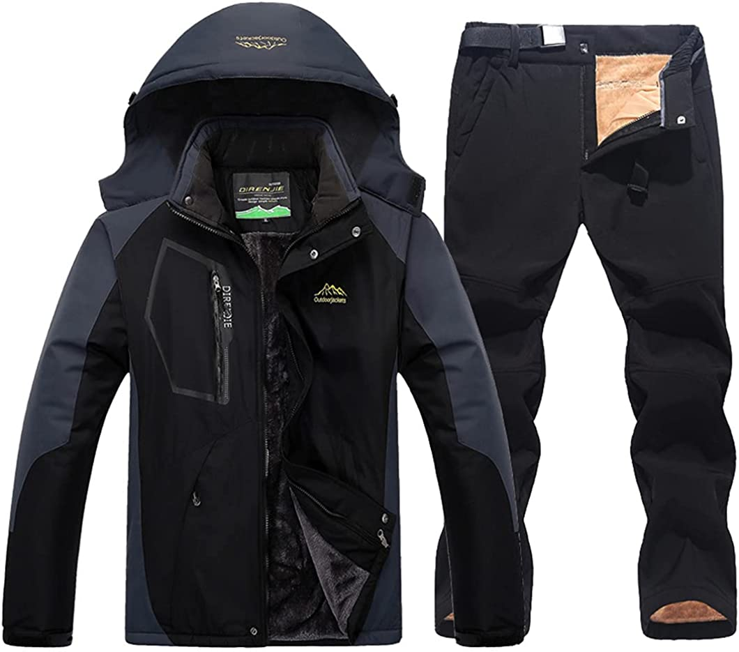 USDBE Winter Ski Large discharge sale Suit for Men Warm and Pants S Jackets Max 58% OFF Snow Male