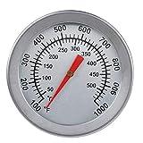 SANON Termometro per Barbecue Acciaio Inossidabile Griglia a Carbone Fumatore Indicatore di Temperatura Pit Barbecue Termometro per Griglia con Quadrante Analogico Scala Barbecue per