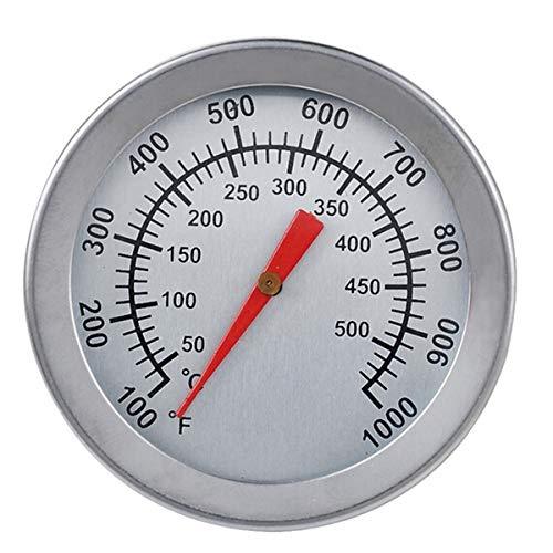 Fealay Termómetro para Barbacoa Carne Acero Inoxidable Medidor de Temperatura Parrilla Ahumador Termostato de Pozo para Aceite Profundo Barbacoa Barbacoa Ahumador