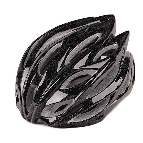 CHENGGUOFENG Casco de Ciclista de protección for la Cabeza Mujeres de los Hombres de Seguridad Ajustable Casco Ligero al Aire Libre de Bicicletas de montaña Casco (Color : Negro, Size : Gratis)