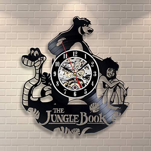StarlingShop Il Libro della Giungla Disney Orologio da Parete in Vinile Decorazioni per la CAS Il Libro della Giungla Disney Decorazioni murali Idea Regalo