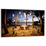 TMK | Placa de 80 x 52 cm 1 pieza para cubrir la vitrocerámica de inducción protección contra salpicaduras placa de cristal decorativa tabla de cortar playa