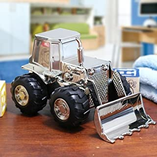Center Gifts Personalized Front End Loader Tractor Piggy Bank Custom Name Engraved