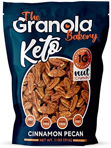 The Granola Bakery Keto Candied Pecans Low Carb Keto Nut Snack 2g Net Carb Low Sugar Small Batch product image