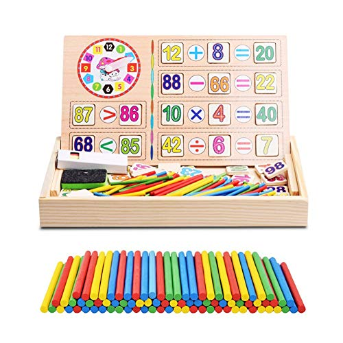 Yosoo Juguetes Bebé Matemáticas Juguetes Caja Madera Operación Digital Dibujo Bloques Educativos Regalo Cumpleaños Niño Aprendizaje Preescolar Aritmética Juego Tabla Multiplicar