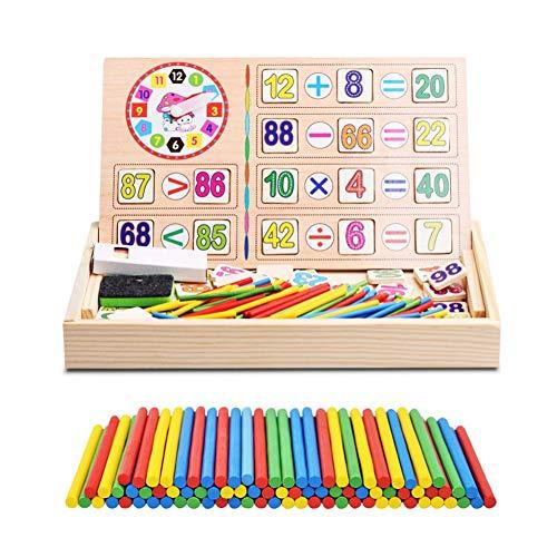 Juguetes Bebé Matemáticas Juguetes Caja Madera Operación Digital Dibujo Bloques Educativos Regalo Cumpleaños Niño Aprendizaje Preescolar Aritmética Juego Tabla Multiplicar