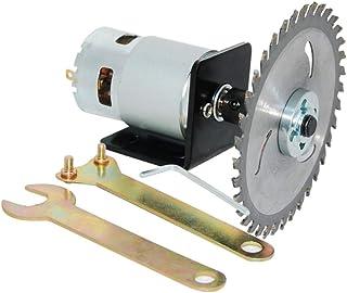 775 Motor DC 12V/24V Kit de sierra circular de alta potencia con barra de conexión y hoja de sierra circular