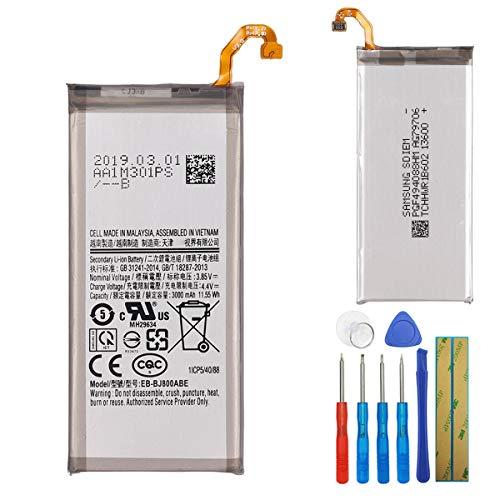 E-yiiviil Batería de repuesto EB-BJ800ABE compatible con Samsung Galaxy A6 (2018) J6 2018 SM-A600F J600 con herramientas.