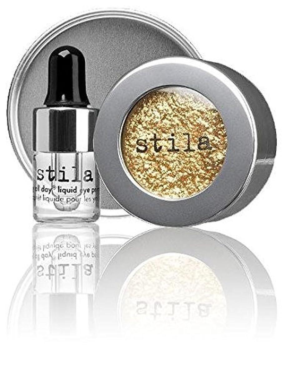 スティラ Magnificent Metals Foil Finish Eye Shadow With Mini Stay All Day Liquid Eye Primer - Gilded Gold 2pcs並行輸入品