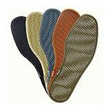 Without Desodorante Bambú Libros de carbón para Zapatos Hombres Mujeres Deportes Plantillas Malla Transpirable Zapato Pad Insertar Succión Perspiración Plantilla (Color : Random, Shoe Size : 37)
