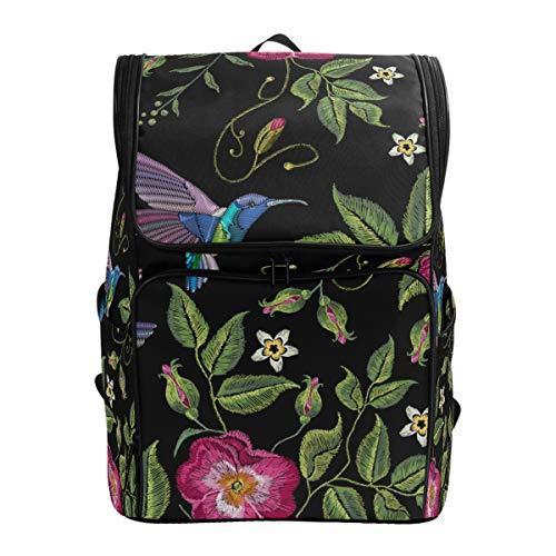 Ahomy Schulrucksack, Tropische Blätter, Kolibri, groß, wasserdicht, Tagesrucksack, Computer-Rucksack für Arbeit und College