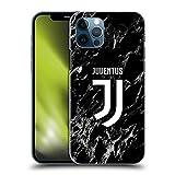 Head Case Designs Oficial Juventus Football Club Negro Marmoreo Cover dura para parte posterior compatible con Apple iPhone 12 / iPhone 12 PRO