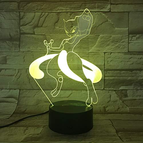 Lámpara de mesa 3D Kids Toy Gift-823 Go Character / 16 colores Cambio de escritorio Lámpara de mesa 3D Kids Toy Gift Led Night Light Luz USB