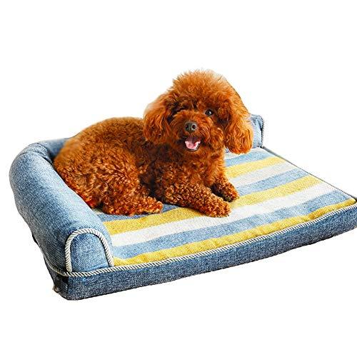 Perro De Algodón PP De Cama, Sofás Cama Ortopédica For Mascotas Perro Pequeño Medio Grande, Lavable Cubierta Extraíble (Size : 100×80CM)