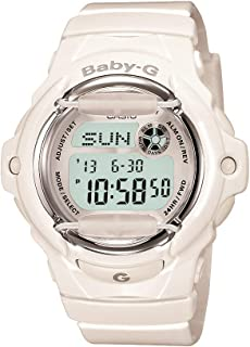 Women's Baby G Quartz Watch with Resin Strap, White, 23.4...