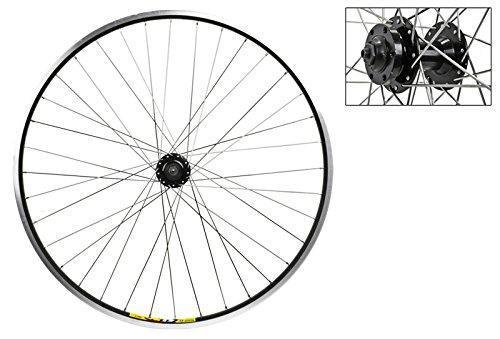 Wheel Master 700c Front Wheel - Quick-Release, 36H, Black (MSW)/Black/Steel