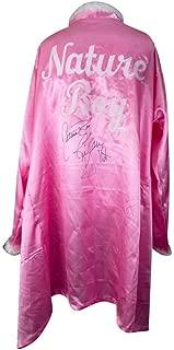 Ric Flair Autographed w/Inscription Pink Feather Nature Boy Robe - JSA COA