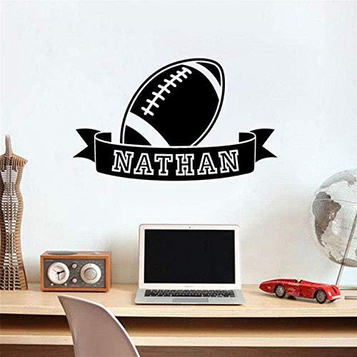 Wandsticker American Football Ball Zeichen Junge Sport Aufkleber Schlafzimmer Kinderzimmer Wasserdichtes Vinyl Abnehmbares Dekor 30X56cm