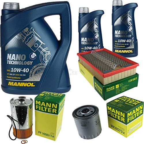 Mannol 7 L Nano Technology 10W-40 - Aceite de motor + filtro MANN-FILTER Mercedes-Benz 190 D 2.0
