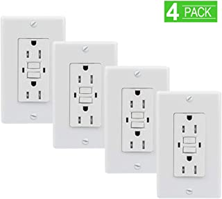 SZICT GFCI Outlet Receptacle UL-listed 15A Dual Indicator Self Test GFCI Tamper Resistant GFCI Outlet for Ground Fault Circuit Interrupter[4 Pack]