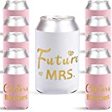 12 Pieces Bride Can Coolers,Team Bride Drinking Can Coolie Sleeves for Bachelorette Cheer Party Favor and Bride Maid Gifts