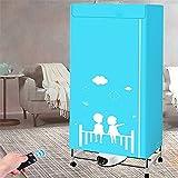 Kktect secadora de ropa con calefacción, 1300w-33lb de capacidad, luz azul, ión negativo, plegable, automática, secadora de ropa, secadora de aire para armario plegable, con control remoto