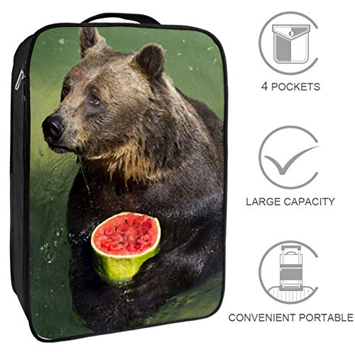 DEYYA Bear Water Best Animal Travel Shoes Bag Portable Storage Organizer Golf Weekender Shoes Bags for Women and Men