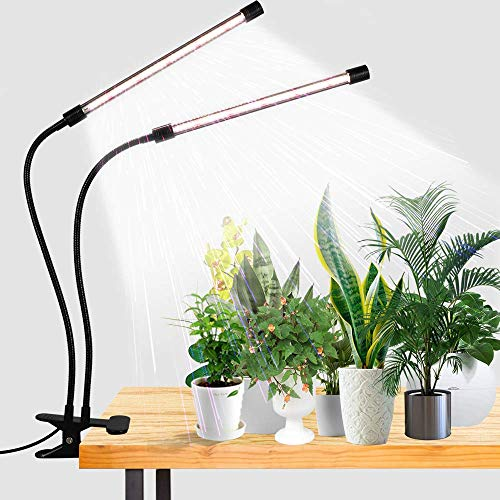 LED Grow Light,6000K Full Spectrum Clip Plant...