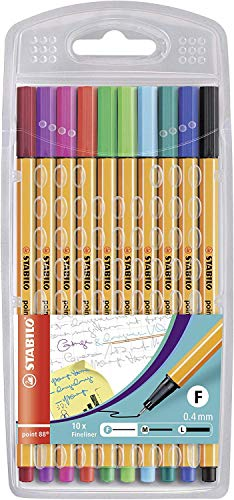 Fineliner - STABILO point 88 - Astuccio da 10 Exclusive Edition - Colori assortiti