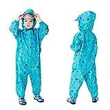 Baogaier Chubasquero para niños y niñas, con capucha, lluvia, poncho, ropa de lluvia, mono colorido, ligero, portátil, impermeable, unisex, chaqueta de PVC transparente, sombrero de 2 a 8 años
