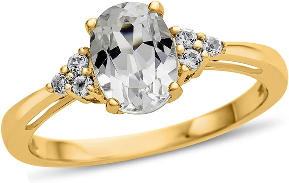 Finejewelers Solid 10k White Super beauty Louisville-Jefferson County Mall product restock quality top or Yellow St Gold Center Oval 8x6mm