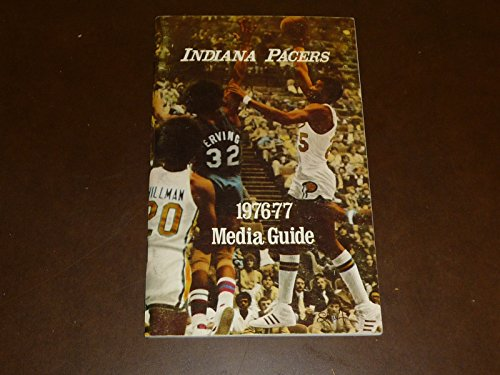 1976 1977 INDIANA PACERS NBA BASKETBALL MEDIA GUIDE BILLY KNIGHT VS DR J COVER
