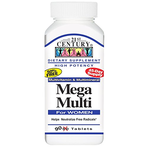 21st Century Mega Multi for Women, 90 Tabs