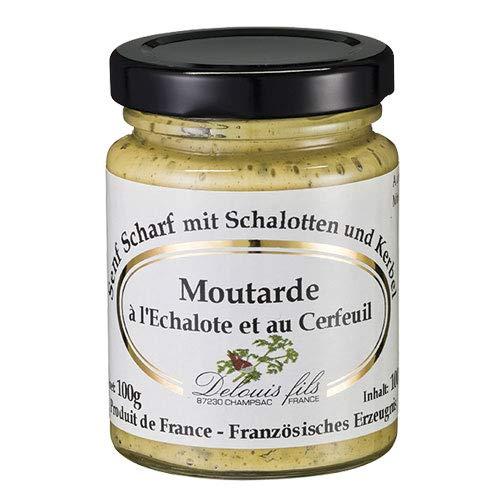 Delouis Fils - Senf mit Schalotten und Kerbeln (Moutarde a l'Echalote et au Cerfeuil) aus Frankreich - 100 g
