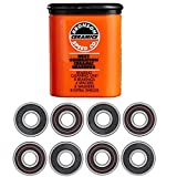 Ceramic construction for increased speed and reduced friction and corrosion. Ceramic Bearings from Bronson. Pop off resistant straight edge frictionless shields. Next Generation Bearings, Designed for Today's Skateboarding. The fastest, strongest, lo...